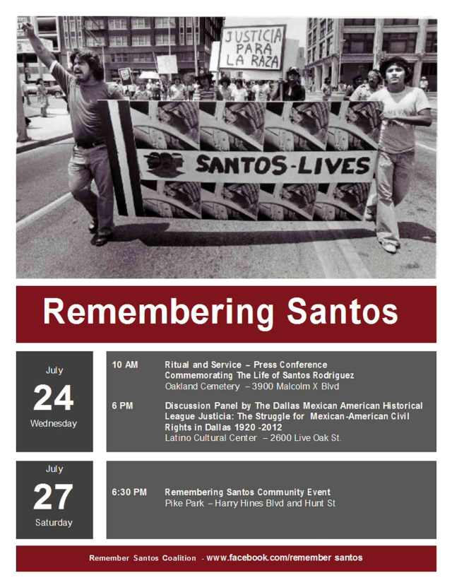 Remembering Santos | #Dallas #JFK #policebrutality #Xicanism
